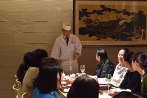 恵比須料理長とお客様
